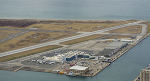 Billy Bishop Airport (YTZ) Toronto Images stock