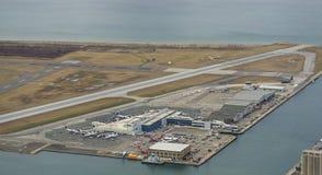 Billy biskupa lotnisko Toronto (YTZ) obrazy stock