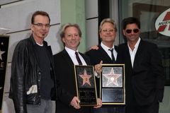 Billy Bob Thornton, Dewey Bunnell, Gerry Beckley, John Stamos Stock Images