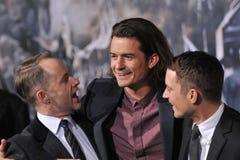 Billy Boyd, Orlando Bloom & Elijah Wood zdjęcia stock