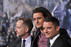 Billy Boyd & Orlando Bloom & Elijah Wood Stock Photography