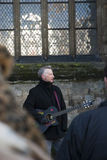 Billy Bragg in front of Exeter Cathedral Stock Image