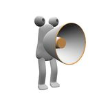 Billy Bullhorn. A comical 3d bullhorn character Stock Photos