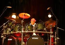 Billy Cobham zespół żywy na scenie w LODOWY Krakowskim fotografia royalty free
