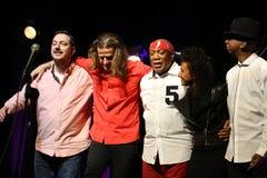 Billy Cobham zespół żywy na scenie w LODOWY Krakowskim zdjęcie stock