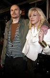 Billy Corgan et Courtney Love Images libres de droits