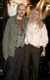 Billy Corgan i Courtney Love zdjęcie royalty free