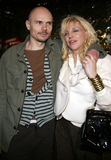 Billy Corgan i Courtney Love fotografia royalty free