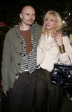 Billy Corgan i Courtney Love fotografia stock
