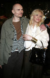 Billy Corgan i Courtney Love zdjęcia royalty free