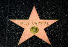 Billy Crystal Star on the Hollywood Walk of Fame Stock Photography
