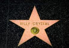Billy Crystal Star på Hollywood går av berömmelse arkivbild