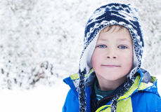 Young boy in the snow Royalty Free Stock Photo
