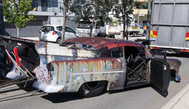 Billy fury festiwalu pokaz: Śmieszny samochód zdjęcie royalty free