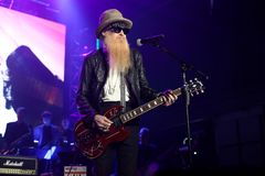Billy Gibbons. NEW YORK, NY - NOVEMBER 29: Musician Billy Gibbons performs at America Salutes You and Wall Street Rocks Presents Guitar Legends For Heroes at Royalty Free Stock Photography