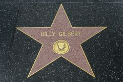 Billy Gilbert-ster op de Hollywood-Gang van Bekendheid stock foto