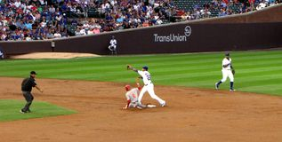 Billy Hamilton Steals Second Base Royalty Free Stock Photo
