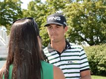 Billy Horschel at the 2015 Barclays Pro-Am held at the Plainfield Country Club in Edison,New Jersey. stock photography
