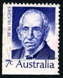 Billy Hughes Australian Postage Stamp fotografia de stock