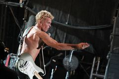 Billy Idol Concert Donauinselfest 2010 Royalty Free Stock Photo