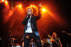 Billy Idol concert Stock Images