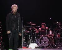 Billy Idol executa no concerto foto de stock royalty free