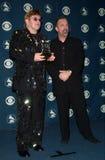 Billy Joel,Elton John. 23FEB2000: Pop stars SIR ELTON JOHN (left) & BILLY JOEL at the 42nd Annual Grammy Awards in Los Angeles.  Paul Smith / Featureflash Royalty Free Stock Photography