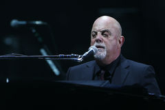 Billy Joel. NEW YORK-APR 3: Singer/songwriter Billy Joel performs in concert at Madison Square Garden on April 3, 2015 in New York City stock photography