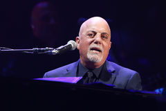 Billy Joel. NEW YORK-NOV 21: Singer Billy Joel performs in concert at Madison Square Garden on November 21, 2016 in New York City Stock Image