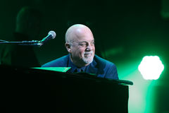 Billy Joel. NEW YORK-NOV 21: Singer Billy Joel performs in concert at Madison Square Garden on November 21, 2016 in New York City Royalty Free Stock Photos