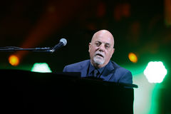 Billy Joel. NEW YORK-NOV 21: Singer Billy Joel performs in concert at Madison Square Garden on November 21, 2016 in New York City Royalty Free Stock Images