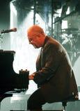 Billy Joel Wykonuje w koncercie fotografia stock