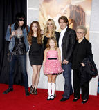Billy Ray Cyrus e Tish Cyrus fotos de stock royalty free
