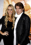 Billy Ray Cyrus en Tish Cyrus stock afbeeldingen