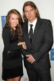 Billy Ray Cyrus, Hilary Duff, Miley Cyrus Royalty Free Stock Photos