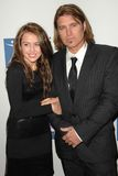 Billy Ray Cyrus, Miley Cyrus Stock Photo