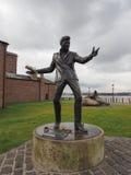 Billy wściekłości rzeźba w Liverpool zdjęcie royalty free