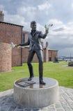 Billy wściekłości statua, Albert dok, Liverpool zdjęcia royalty free