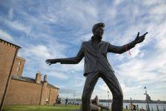 Billy w?ciek?o?ci statuy pomnik, Albert dok, Rzeczny Mersey, Liverpool, UK 11th 2014 Czerwiec zdjęcie stock