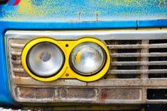 Billykta av gamla bilar Arkivbilder