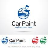 Bilmålarfärg Logo Template Design Vector Royaltyfri Fotografi