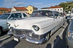 Am-bilmötet halden in (den klassiska amerikanska bilen) Arkivbild