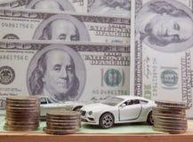 Bilmodell och bokföringsunderlag Royaltyfria Bilder