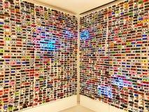 Bilmodellshow på väggen Royaltyfri Fotografi