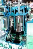 Bilmotor för fyra slaglängd Arkivbild