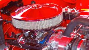 Bilmotor och luftfilter Arkivfoto