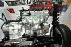Bilmotordel Arkivfoton