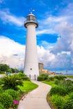 Biloxi Lighthouse. Biloxi, Mississippi USA at Biloxi Lighthouse Royalty Free Stock Photo