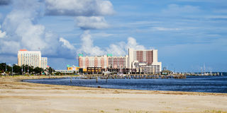 Biloxi, Mississippi, casinos and buildings Royalty Free Stock Photo