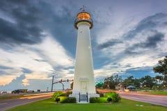 Biloxi, Mississippi Etats-Unis au phare de Biloxi photo libre de droits